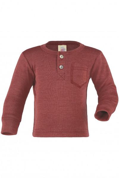 Engel Natur, Baby-Shirt mit Knopfleiste, 70% Wolle (kbT), 30% Seide