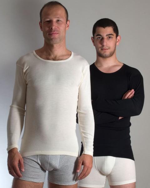 Herren Unterhemd langarm, Engel Natur, 100% Wolle (kbT)