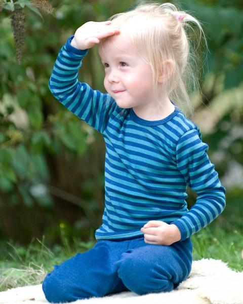 Kinder Unterhemd lang, Engel Natur, Wolle und Seide