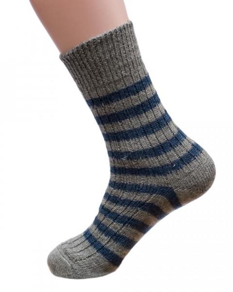 Hirsch Natur, Socken Ringel, 100% Wolle (kbT)