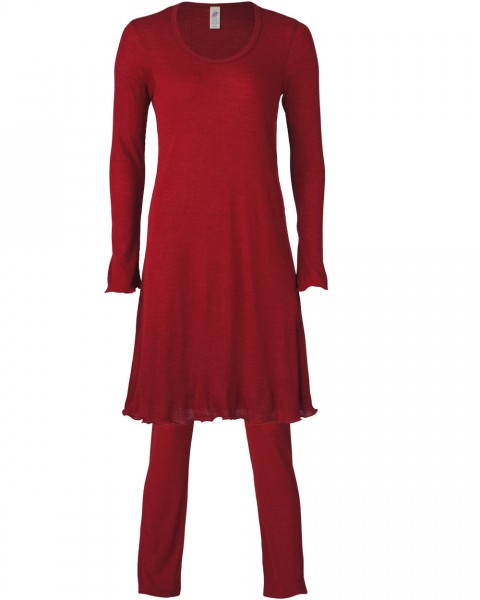 Damen Nachthemd & Hose Set, Engel Natur, Wolle Seide