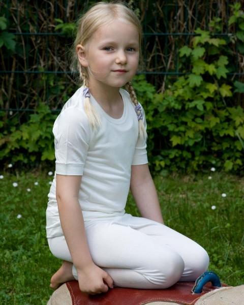 Kinder Unterhemd kurzarm, Alkena, 100% Seide (kbT)