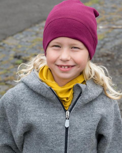 Kinder Schlauchschal, Engel Natur, 70 % Wolle (kbT), 30 % Seide, 6 Farben