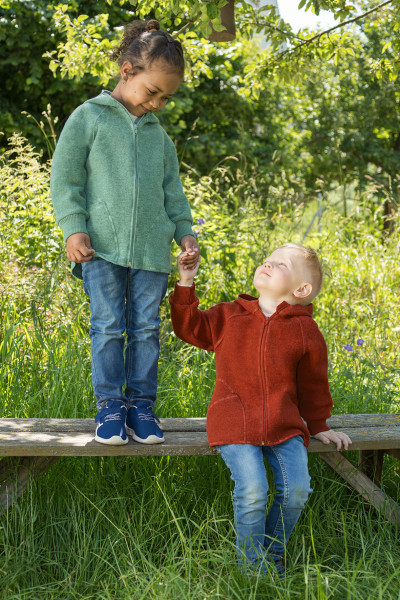 Engel Natur, Baby Walk-Jacke mit Kapuze und Reißverschluß, 100% Wolle (kbT), 3 Farben