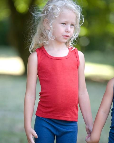 Cosilana, Kinder Träger Unterhemd, 70 % Wolle (kbT) 30 % Seide