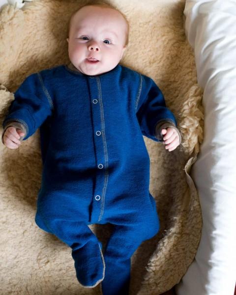 Baby Overall mit Fuß, Engel Natur, 100% Wolle (kbT), 2 Farben