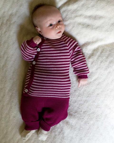 Baby Wickelpulli Ringel, Relax, 100% Wolle (kbT)