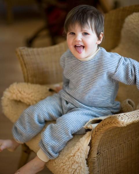 Kinder Schlafanzug Fleece, Lilano, 100% Wolle (kbT), 2 Farben