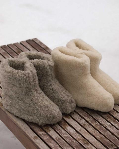 Unisex Hausschuhe Stiefel, 100% Schurwolle