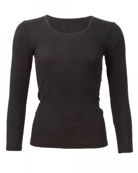 Cosilana Damen-Unterhemd langer Arm, 70 % Wolle (kbT) 30 % Seide