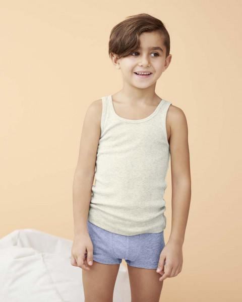 LivingCrafts, Mädchen und Jungen Achselhemd, 100% Baumwolle (kbA)
