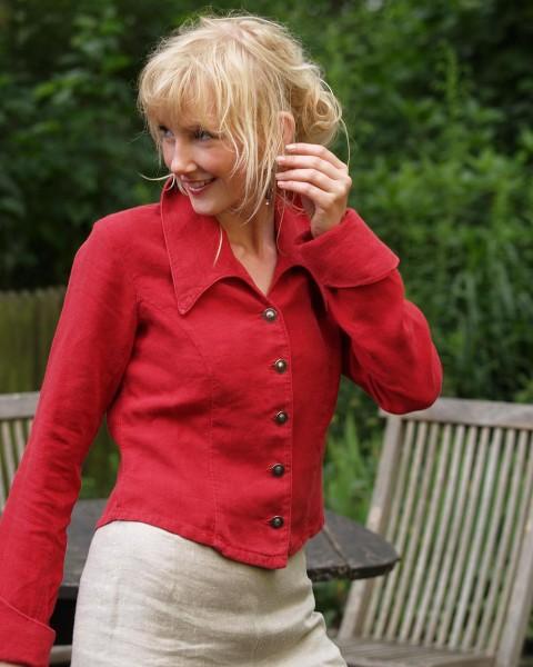 "Damen Jacke ""Mary Stuart"", Luzifer, 100% Leinen, 2 Farben"