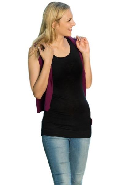 Longshirt, Wolle Seide, 2 Farben, Engel Natur