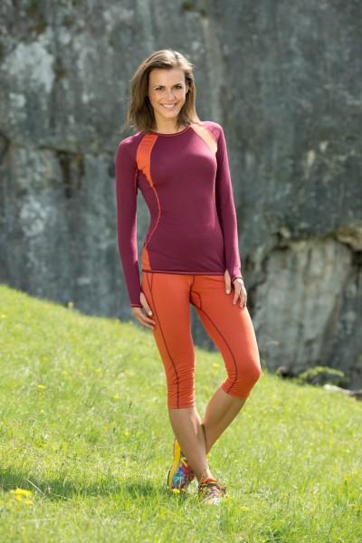Damen Sport Shirt langarm, Engel Sports, Wolle Seide, maschinenwaschbar