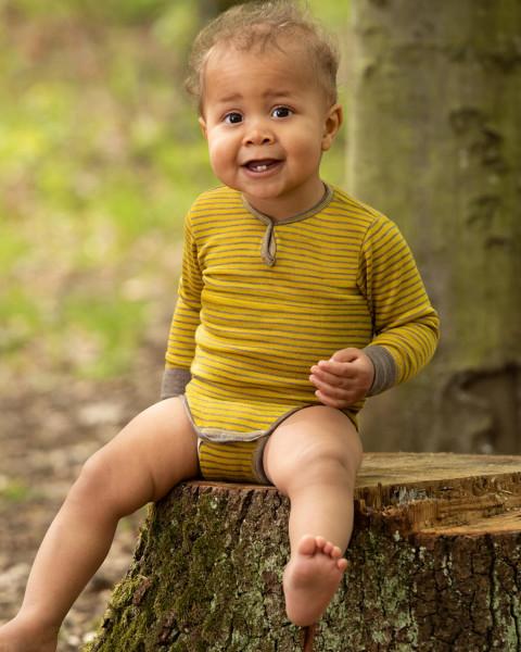 Baby Body-Shirt, Engel Natur, Wolle Seide