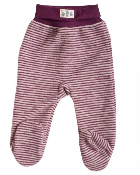 Lilano, Baby Fleece Hose mit Fuß, 100% Wolle