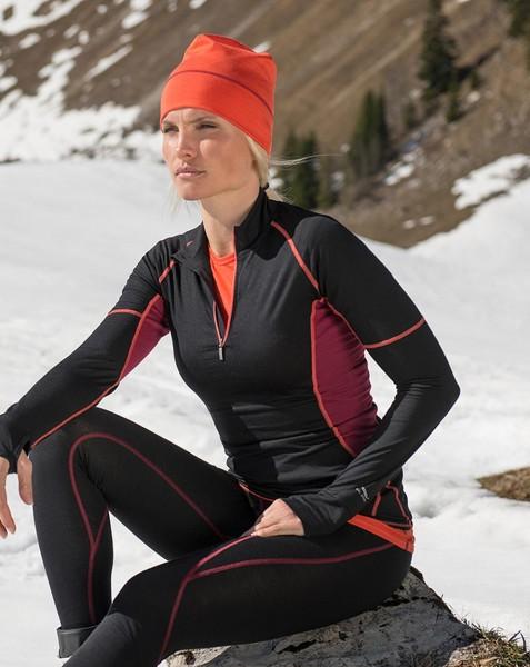 Damen Sport Mütze, Engel Natur, Wolle Seide, maschinenwaschbar