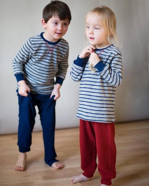 Engel Natur, Kinder Schlafanzug Frottee, 100% Wolle (kbT)