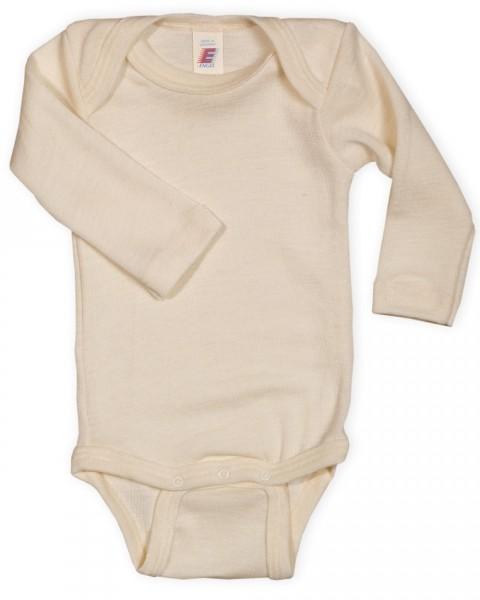 Baby Body langarm, 100% Wolle (kbT), 3 Farben