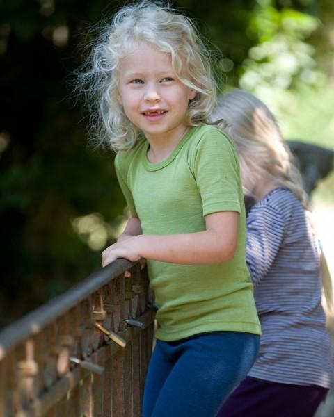 Cosilana, Kinder-Unterhemd kurzarm, 70% Wolle (kbT) 30% Seide