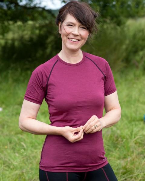 Damen Sport Shirt, regular fit, Engel Natur, Wolle Seide, maschinenwaschbar