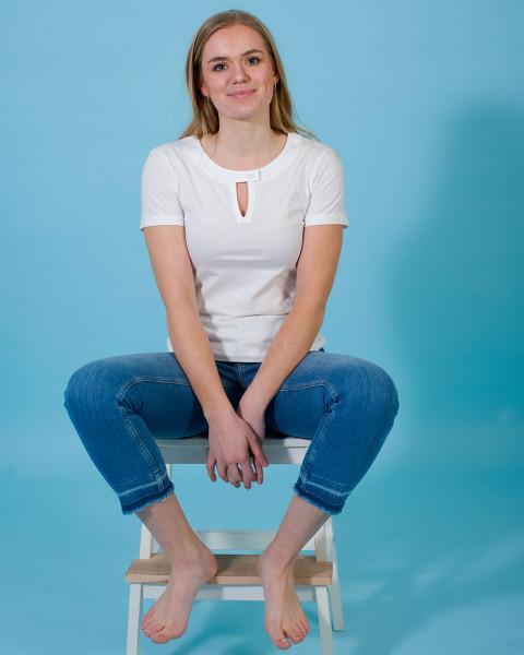 Feuervogl, Cropped Slim Fit Jeans