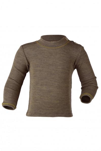 Engel Natur, Shirt mit Schulterknöpfen, Wolle und Seide