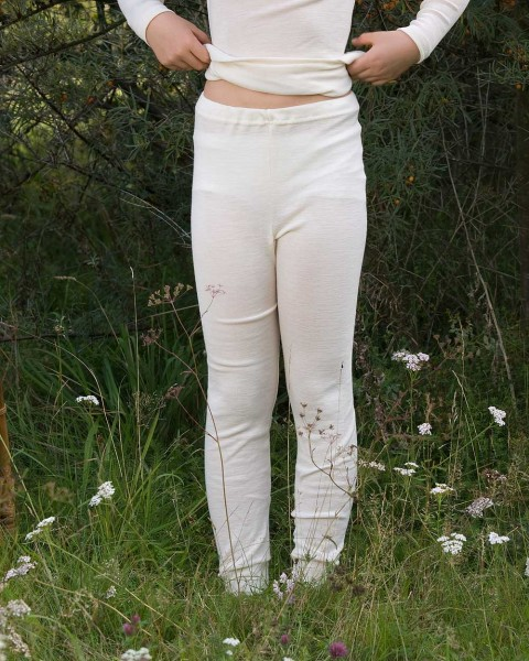 Kinder lange Unterhose, Engel Natur, 100% Wolle (kbT)