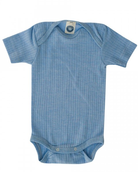 Cosilana Baby Body kurzarm, 45% Baumwolle, 35% Wolle, 20% Seide, 3 Farben