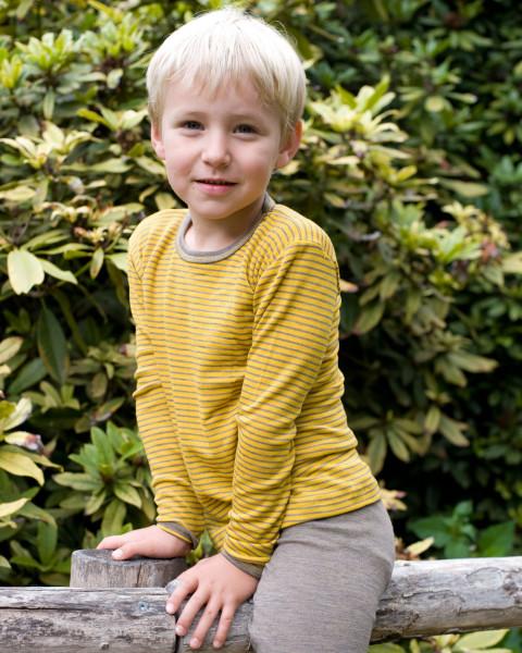 Kinder Unterhemd lang, Engel Natur, Wolle und Seide, 3 Farben
