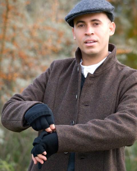 Herren Handschuhe mit Klappe, 100% Wolle, 3 Farben