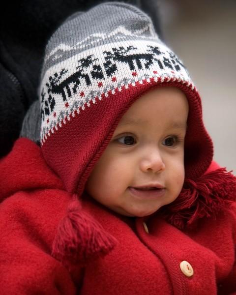 """Baby Wollmütze """"Elch"""", Ganterie, 100% Wolle, 2 Farben"""