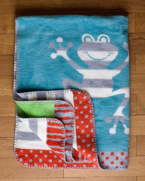 Richter, Kinder Decke Froschi, 100% Baumwolle (kbA), 75x100 cm