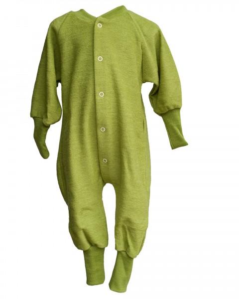 Cosilana, Kinder Schlafanzug mit Bündchen, Gr. 68 - 116, 100% Wolle (kbT)