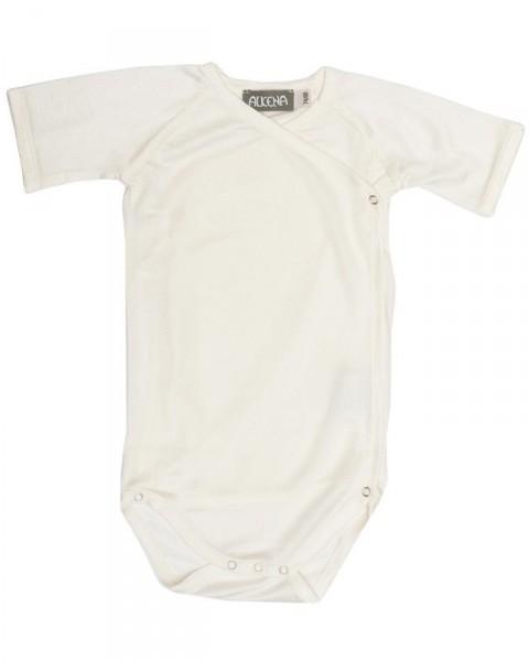 Baby Wickelbody kurzarm, Alkena, 100% Seide (kbT), 92 g/m²
