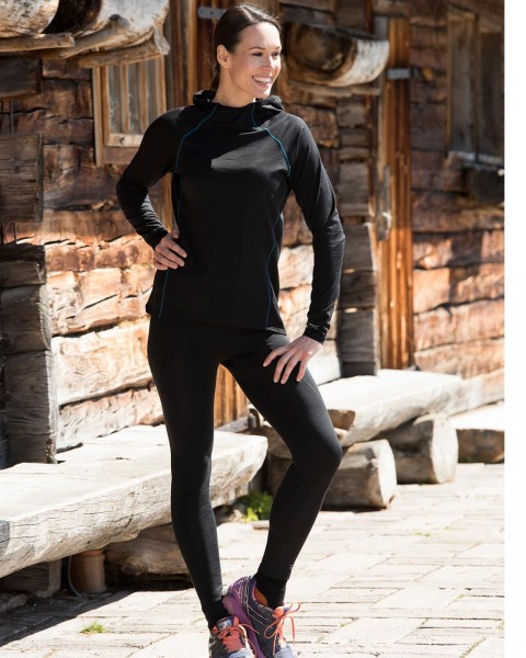 Damen Sport Leggings, Engel Sports, Wolle Seide, maschinenwaschbar