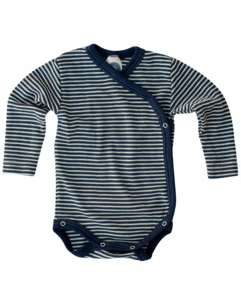 Cosilana Baby Wickelbody langarm, 70 % Wolle (kbT) 30 % Seide