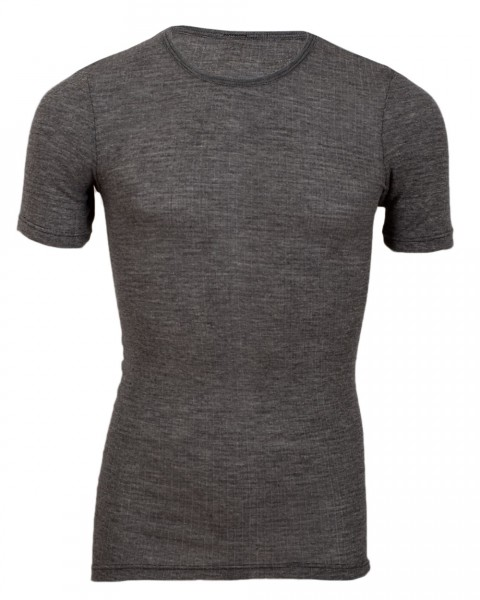 Cosilana Herren Unterhemd kurzarm, 45 % Baumwolle (kbA), 35 % Wolle (kbT), 20 % Seide