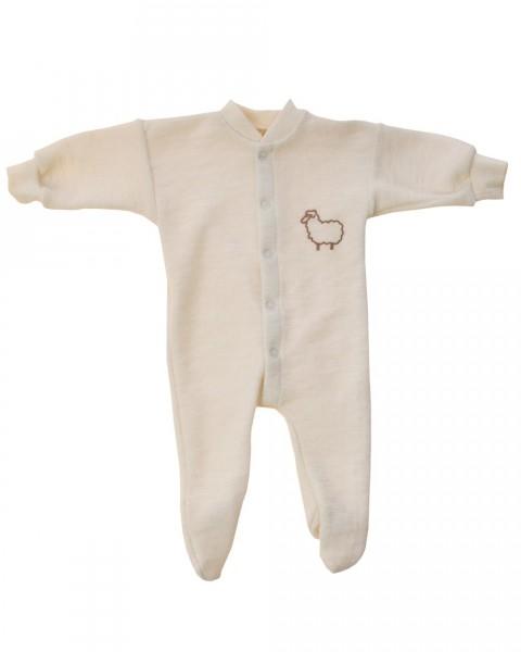 Engel Natur, Einteiliger Schlafanzug mit Fuß, 100% Wolle (kbT)