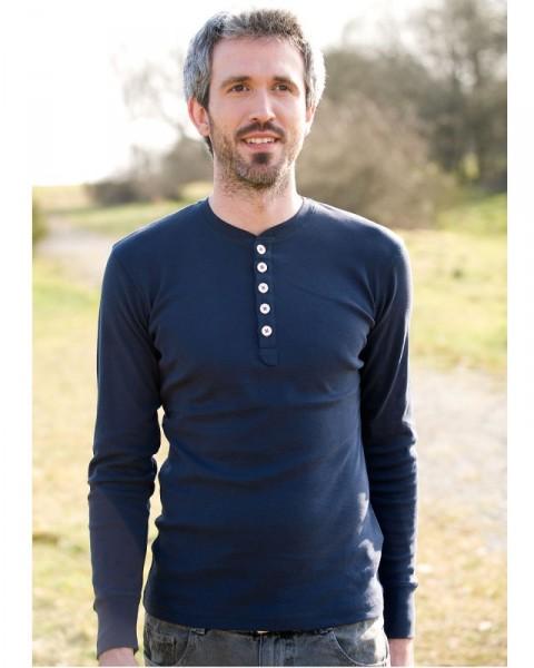 Herren Shirt langarm, KnowledgeCotton, 100% Baumwolle (kbA)