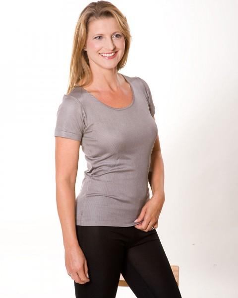 Seiden-Ripp Unterhemd kurzarm, 100% Seide (kbT)