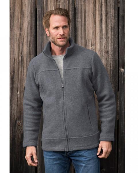 Herren Fleece Jacke, Engel Natur, 100% Wolle (kbT), 3 Farben
