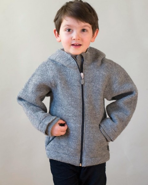 Kinder Walkjacke, 100% Wolle, Foster-Natur