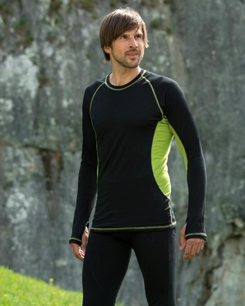Herren Sport Shirt langarm, Engel Sports, Wolle Seide