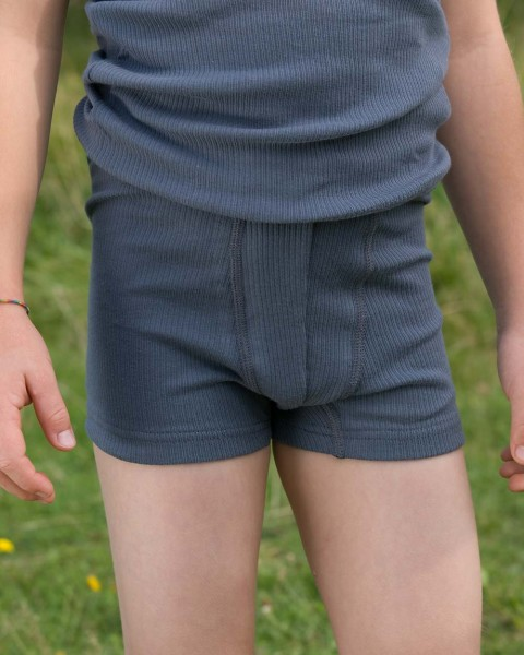 Jungen Pants, Engel Natur, 100% Baumwolle (kbA), graphit