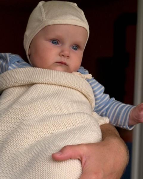 Babydecke, Lana, 100% Wolle (kbT), 3 Farben
