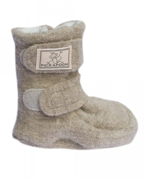 Pickapooh Puschen Schuhe, 100% Wolle (kbT)