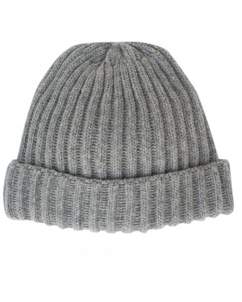 Foster-Natur, Damen / Herren Mütze dickripp, 100% Wolle