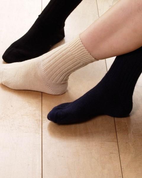 Socken mittelschwer, Hirsch Natur, 100% Wolle (kbT), 3 Farben
