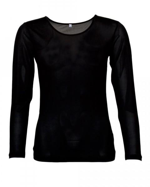 Damen Unterhemd langarm, 100% Seide, 92 gr./m²
